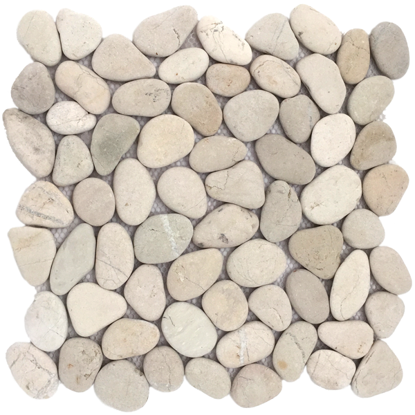 Riverstone pebble wit ? per pak Pebble shop Natuurmoza?ek en