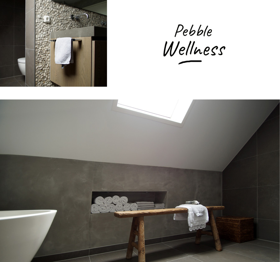 Pebble Wellness - Riverstone pebble lichtgrijs wit © - by Pebble shop